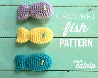 Crochet Fish Cat Toy Pattern PDF DOWNLOAD, Crochet Fish Cat Toy Pattern w/ Catnip, Crochet Cat Toy, Crochet Fish Pattern