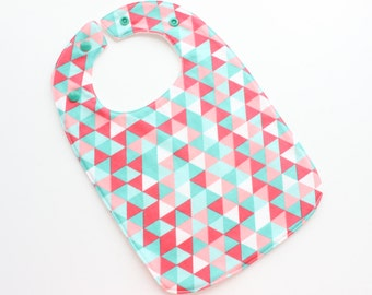Girls triangles original Baby Bib - many to chose from