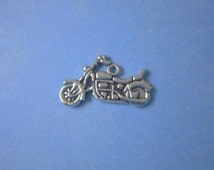 5 Motorcycle Charms, Silver Charms, DIY Charms, Supplies, Metal Charms, Findings, Charms, Love Pendant, Craft Supplies, Motorcycle,Findings