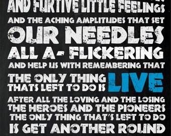 Frank Turner - I Knew Prufrock Before He Got Famous - Lyrics Inspired Poster