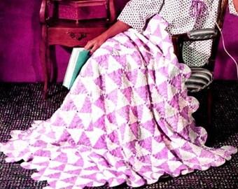 Crochet Blanket Pattern Crochet Christmas blanket Pattern Crochet Candy Cane Blanket Crochet Afghan Pattern Vintage Crochet Pattern