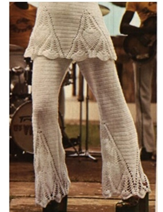 Crochet Pattern Yoga Pants : Crochet Pants Pattern Vintage 70s Crochet Pineapple