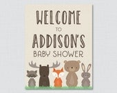Woodland Baby Shower Welc...