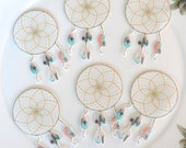 Edible Dreamcatcher Feathers x20 Boho Dream Catcher Wafer Paper Wedding Cake Decorations Rustic Birthday Party Cupcake Cookie Toppers RTD