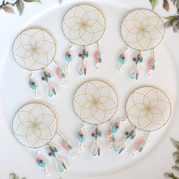 Edible Dreamcatcher Feathers x20 Boho Sweet Dream Catcher ...