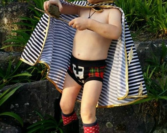 Captain Underpants Mens' and Boys' Briefs PDF Sewing Pattern