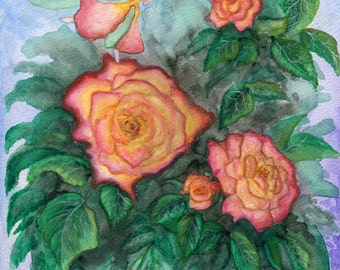 The Fairy Rose - Spring - Print from Original Watercolor