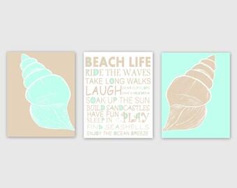 Instant Download Beach Wall Art 3 Printable Images Home Decor Wall Decor 5x7, 8x10, 11x14 Ocean Decor Beach Theme