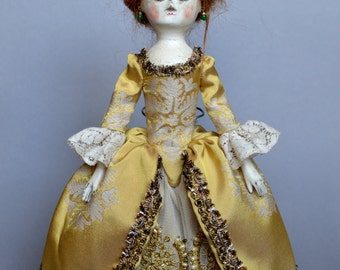 SOLD! Queen Anne doll repro, by D.Vistavna
