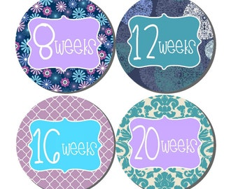 Weekly Pregnancy Stickers, Pregnancy Announcement, Pregnancy Belly Stickers, Pregnancy Photo Prop, Maternity Stickers, P33