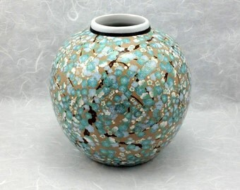 Blue Japanese Blossoms, Ceramic Vase