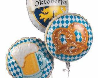 Oktoberfest Balloons  Set of 3  /Oktoberfest party