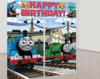 Thomas the Train wall Decorating