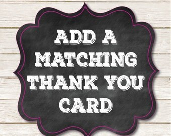 Add A Matching Thank You Card