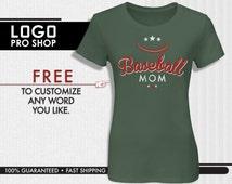 Baseball Mom shirt, Great Gift for Mom, Gift idea for dad mom uncle, Baseball Party, Baseball Theme, Raglan Baseball shirt, Birthday, ERB1