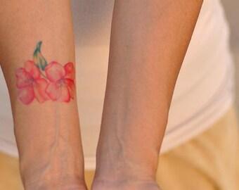 Temporary Tattoo - flowers