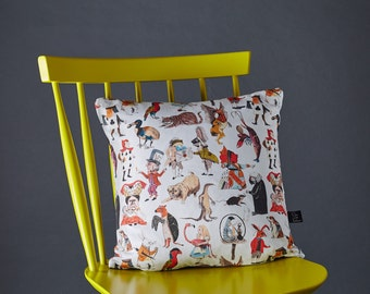 Alice in Wonderland Character Cushion (includes cushion pad)