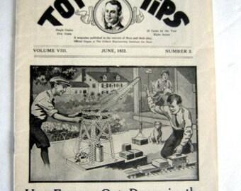 Gilbert Toy Tips by A.C. Gilbert, June 1922