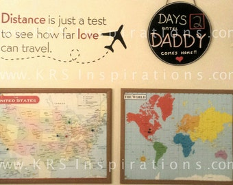 DISTANCE is just a test to see how far LOVE can travel Wall Decal