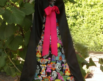 Child Day of the Dead Cape / Costume