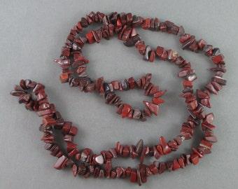 "36"" Brecciated Jasper Chip Strand - Gemstone Strand, Jewelry Making Supply, Jasper Stone Necklace, Natural Stone, Jewelry Making (0019)"