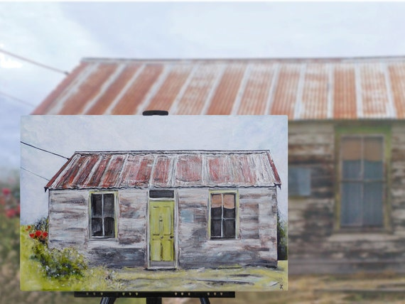 Original Painting 39 Tin Roof Rusted 39 Character House By