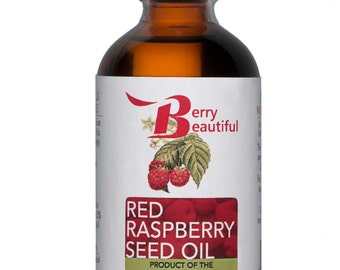 Red Raspberry Seed Oil - 4 Fl Oz (120 ml) - Cold Pressed by Berry Beautiful from locally grown Raspberries - 100% Pure & Unrefined