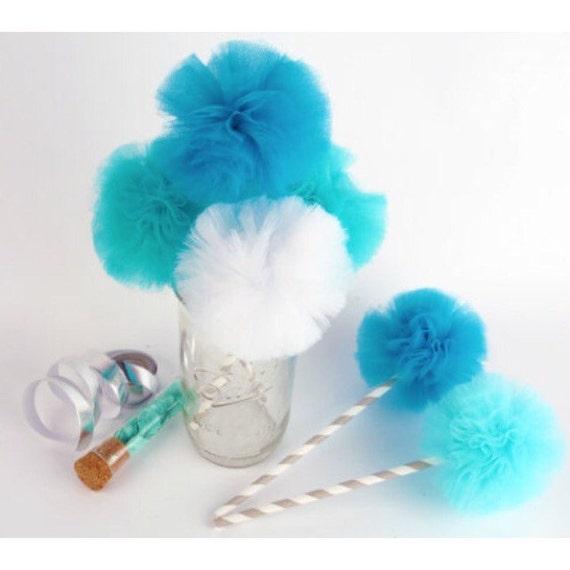 Frozen Elsa Inspired Tulle Pom DIY Vase Fillers By