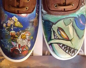 League of Legends custom painted shoes Keds Vans Converse