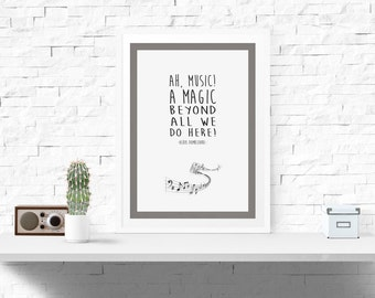 Music, a magic beyond all we do here - Harry Potter Quote Poster -Albus Dumbledore-  (Available In Many Sizes)