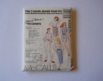 Vintage 90's McCall's Jeans Pants and Jean Skirts Pattern / / Misses Size 12