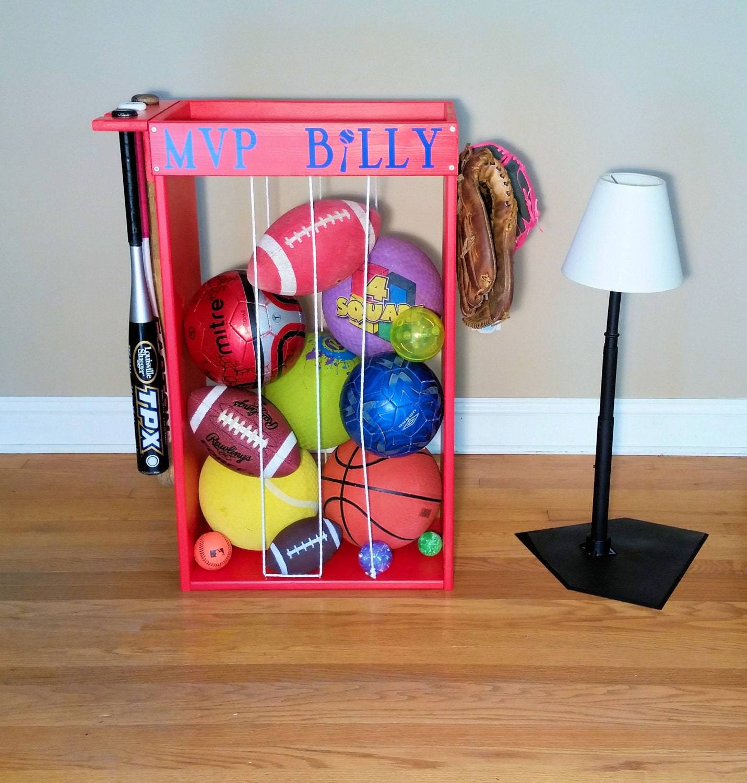 Garage Sports Organizer: Personalized Sports Ball Storage Unique Storage Baseball