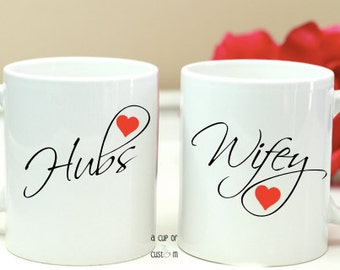 Couples Coffee Mugs-Valentines Day-Personalized Coffee Mugs-Wedding Coffee Mugs-Wedding-For Couples-Coffee Cups-His and Hers-Wedding Gift