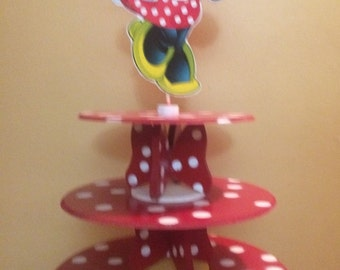 Minnie mouse Birthday Cake Stand Cake display stand by SOUTHFLOWER