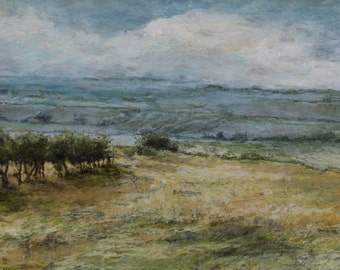 Fields in the Yorkshire Dales Landscape Signed Limited Edition Art Print from Original Oil Landscape Painting