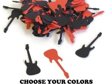 Rockstar guitar confetti. Made in 3-5 Business Days. Custom Colors. 100 pieces. Rock N Roll. musicians. music lovers. guitars. electric