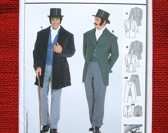 Burda Sewing Pattern 2767, Frock Coat, Waistcoat Vest, Pants, Men Sizes 34 36 38 40 42 44 46 48 50, Victorian Wedding, Steampunk Suit, UNCUT