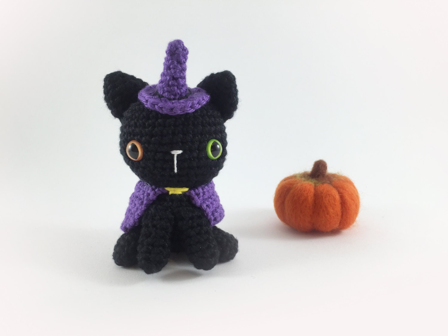 Crocheted Witch Kitty Crochet Witch Halloween Amigurumi