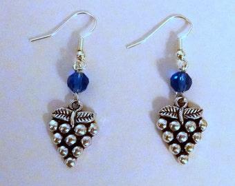 Wine Themed Earrings, Grape Earrings, Wine Jewelry, Wine Glass Earrings, Wine Bottle Earrings, Wine Themed Jewelry, Wine Themed Gift,