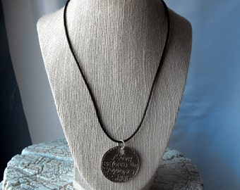 Black Leather Necklace  (BD-765)