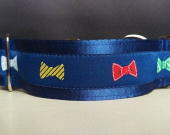 """Martingale Collar - Whippet, and small to medium dog - 1.5"""" width - Dapper Bows"""