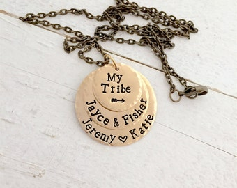 Necklace for mom, Mother's Necklace, Necklace for Mom, My Tribe Necklace, Family Necklace