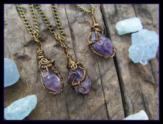 Raw Amethyst necklace ...