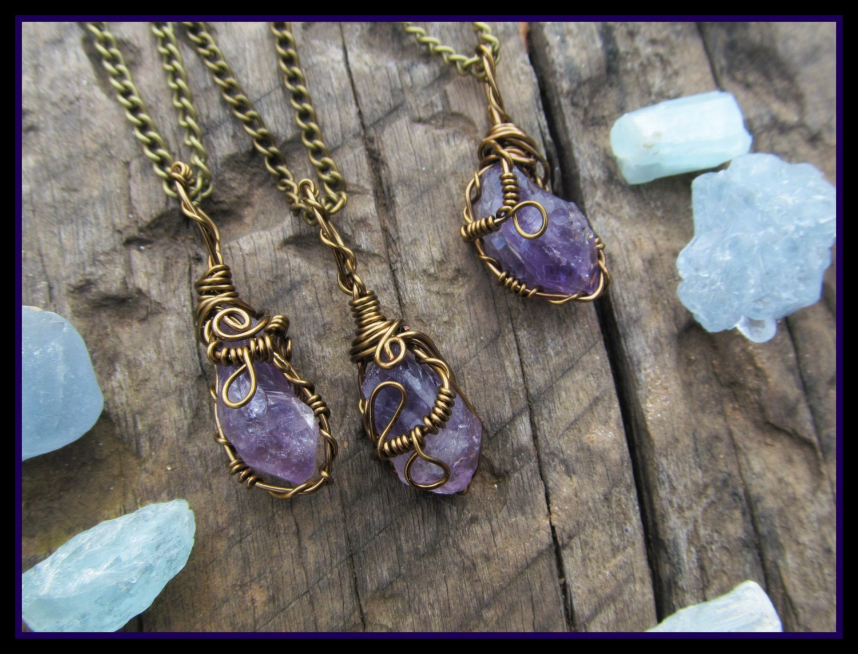 Raw Amethyst necklace amethyst necklace crystal by ...