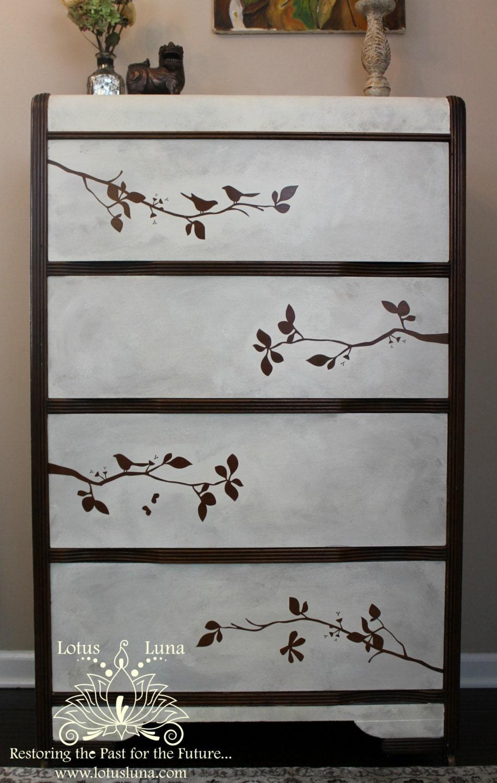Sakura waterfall dresser for Waterfall design etsy