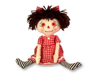 Cute Sarah Rag Doll PRINTED Sewing PATTERN With Easy To Follow Instructions 10 Inch Doll