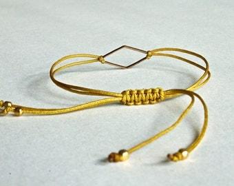 Mustard Seed Geometric Bracelet