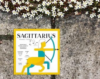 SAGITTARIUS Zodiac Print / Poster