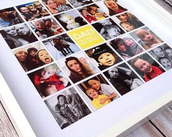 Large Square Mosaic (25 Squares) Framed Print