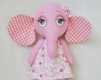 Textile elephant, elephant rag,toy elephant